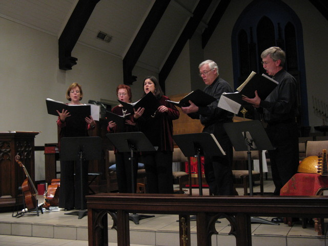 April,2009 Singing a madrigal