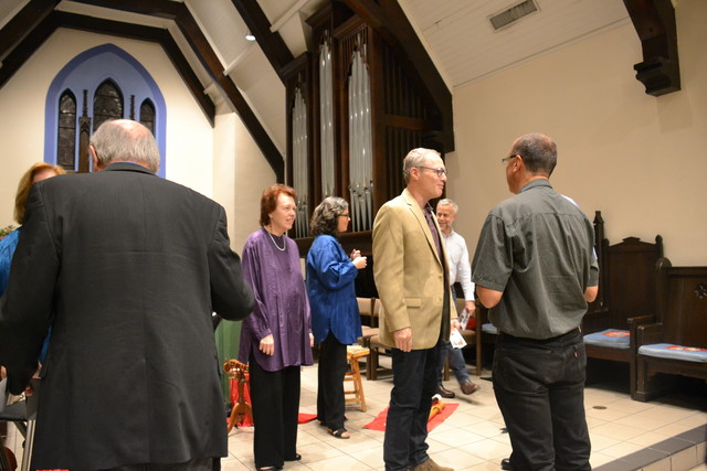 Audience talks with CPM following the concert.