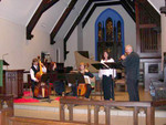 "Jeff Ferdon (far left) with violone. October 2003 with CPM performing ""Ariadne et Bacchus"" by Monteclair."