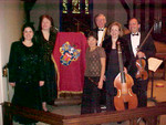 CPM with recorder player Alejandra Lopera Quintanilla from Arequipa, Peru and baroque violinist John Pruett, 2001