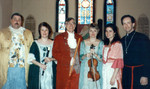 Christmas at St. Mary's 1992. Michael Johnston, Karen, Eddie, Susan Shoemaker, Rebecca with Mike Collins