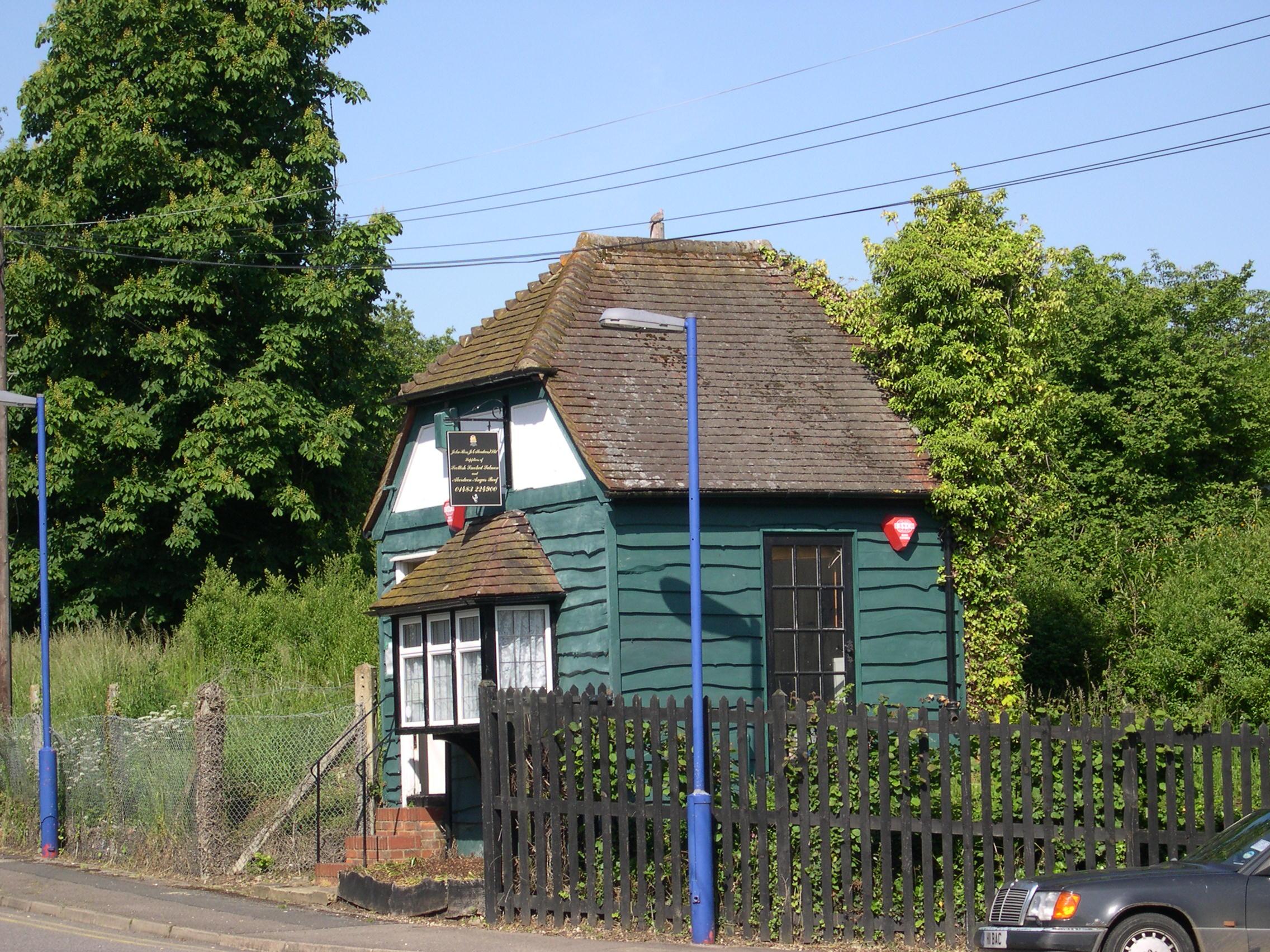 Strange building next to train station in E. Clandon.