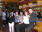 Evening refreshment at the pub near St. Matthew House. Photographed by the owner/bartender!