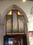 Organ, St. Matthew Church, Westminster, built by Mander Organs, used by CPM for Sunday worship. See John two photos back.