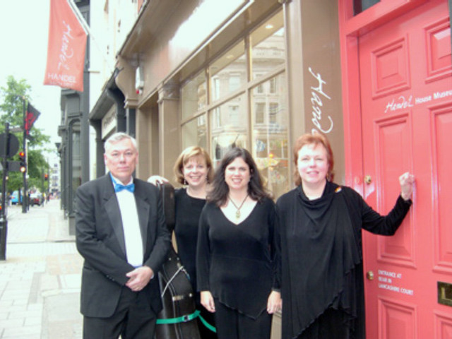 CPM at Handel's House, Brooke St., London, June 2005, where we presented a concert-lecture near the end of our stay.