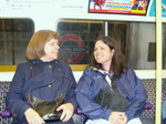 Holly and Rebecca on the underground - the end of a busy week