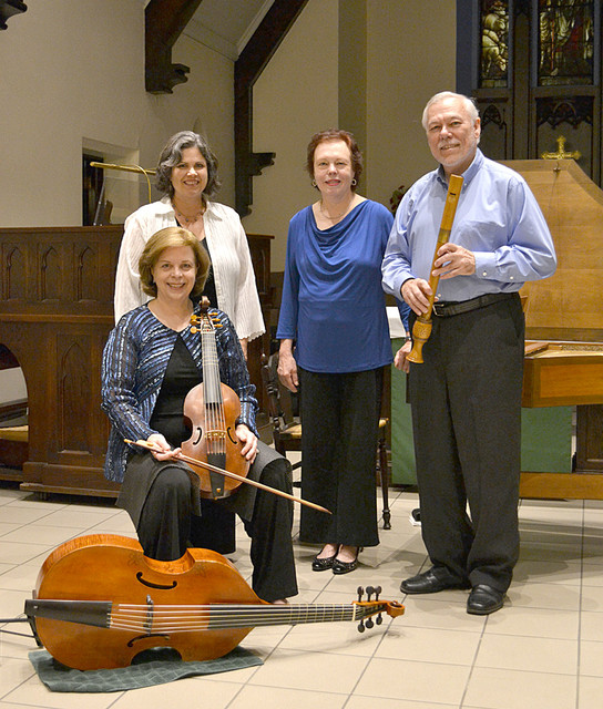 CPM: Holly with treble viol, eddie with Renaissance recorder.