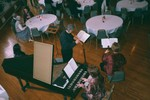 Performing for French gathering, March 3, 2002, Belmont Abbey College. 